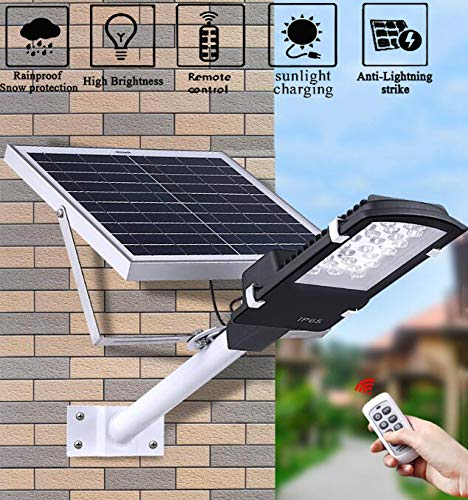 nnn Solar Street licht, buitenverlichting zonne-energie, met afstandsbediening, IP65 waterdichte landschapslampen, voor tuin, hek, Pathyway