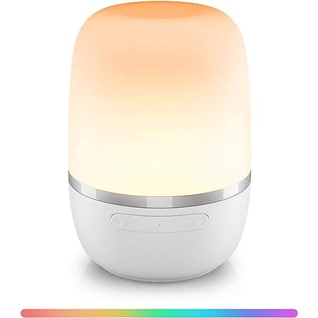 Veilleuse LED Connectée WiFi, Lampe de Chevet Intelligente Compatible Alexa, Google Home et SmartThings, Veilleuse Dimmable Multicolore avec RGB (16 Millions de Couleurs), Blanc Chaud et Blanc Froid