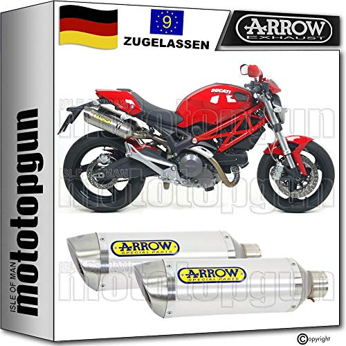 Arrow - Tubo de escape doble para coche (aluminio)