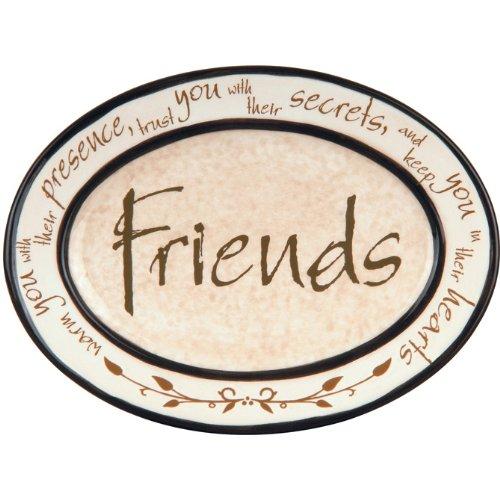 "Carson Home Heartnotes? Friends Mini Plate, 4.5"" H x 6.25"" W"