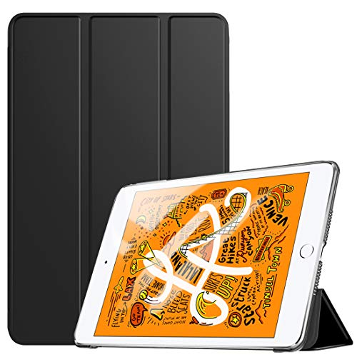 "TiMOVO Funda Compatible con New iPad Mini 5 2019 (7.9"", 5th Generation), Ultra Delgado Protectora Plegable para iPad Mini 7.9"" 2019 Cubierta Inteligente Trasera Transparente - Negro"