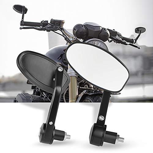 Espejos Retrovisores de Moto,7/8''Retrovisores Moto Espejos Moto para Motocicleta Touring Cruiser Chopper Bicicleta-Blanco