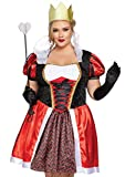 Leg Avenue Women's Plus Size Wonderland Queen Costume, Red/Black, 3X/ 4X