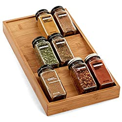 Seville Classics Bamboo Kitchen Drawer Organizer
