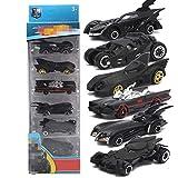 YZHM 6 Pack Mini Model Car, Batman Chariot Mini Run Aleación de automóvil Metal Toy 1: 64 Cumpleaños Regalos Juguetes para niños Niños