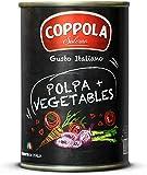 Coppola Polpa + Verduras, Tomates Triturados con Verduras - Sin sal añadida 400g (Caja de 12)