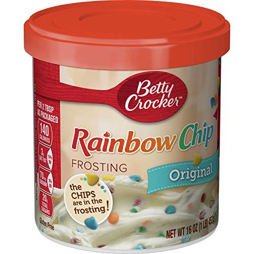 Betty Crocker Frosting, Rich & Creamy Gluten Free Frosting, Original Rainbow Chip, 16 oz (Pack of 8)