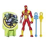 Marvel - Ultimate Spiderman, Action Figure di Iron Spider con Set da Gioco