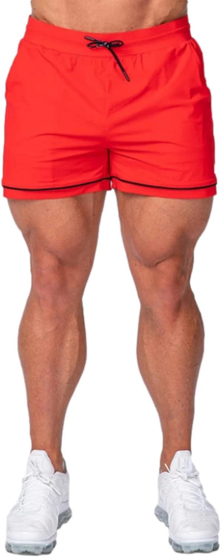 Segindy Men's Running Fitness Sports Shorts Fashion Quick Dry Comfortable Elasticated