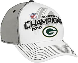 Green Bay Packers 2010 / 2011 NFC Conference Champions w/ Super Bowl 44 Logo Locker Room Champs Hat / Cap