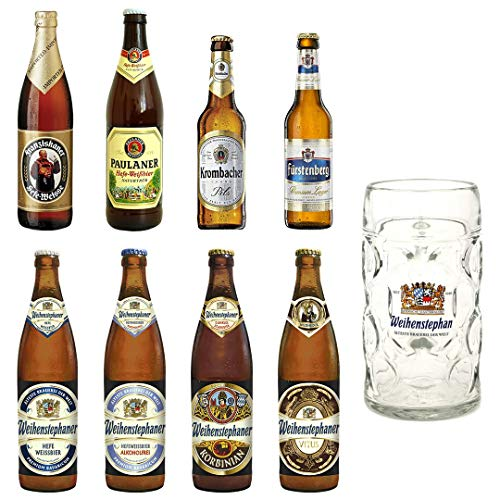 Pack de 8 Cervezas Alemanas + Jarra 1L. DE REGALO