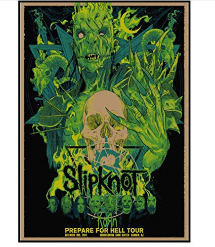 yuyu-beautiful Slipknot Heavy Metal Poster Rock Band Lienzo Carteles B
