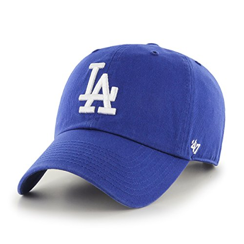 47Brand Erwachsene Kappe MLB Los Angeles Dodgers Clean Up, Royal, OSFA