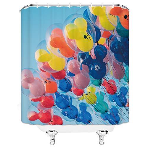 qianliansheji mehrfarbige Duschvorhänge 180 cm x 180 cm Polyester Stoff Vorhang Wasserdichter Schimmelfest Home Badezimmer Vorhang Modern Badvorhänge Modern Dw3469