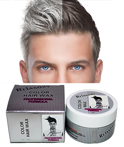 Relaxory Temporary Color Hair Wax Molding Clay Gery White Purple Gold Blue Pink For Men Girl Party (White)