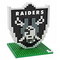 FOCO NFL Oakland Raiders Mini BRXLZ Logo Building Blocks, One Size, Black