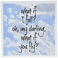 3droseグリーティングカード、6x 6インチ、12パック、What If I Fall Oh My Darling Quote ( GC _ 200712_ 2)