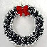 Nuova corona di decorazioni natalizie da 30 cm Corona di ghirlande natalizie da appendere alla porta
