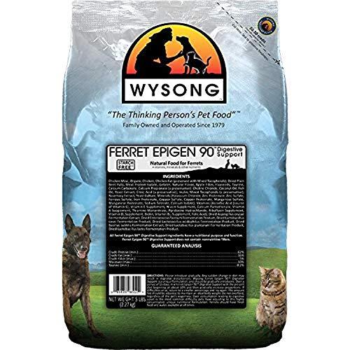 Wysong Ferret Epigen 90 Digestive Support - Dry Ferret Food - 5 Pound Bag