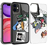 PICAVINCI SwitchME iPhone 11 Case, Arnold Donald Duck Tom Jerry Rocket Launcher Funny Black Clear Matte Protective Cover