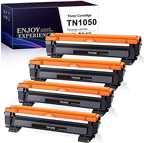 Zam-brero Compatibile Toner TN1050 Sostituzione per Brother TN-1050 TN1050 Cartuccia Toner per Brother DCP-1612W DCP-1512 DCP-1510 1610W HL-1110 HL-1212W HL-1112 HL-1210W MFC-1910W MFC-1810 (4 Nero)