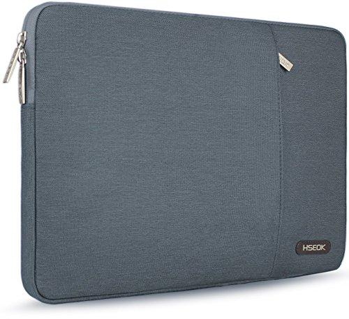 Hseok 15,6 Zoll Laptop Hülle Tasche,Stoßfeste Wasserdicht PC Sleeve kompatibel mit die meisten 15,6 Zoll Laptops Dell/HP/Lenovo/Acer/Ausu, Dunkelgrau