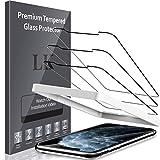 LK Protector de Pantalla para iPhone 11 Pro MAX(6,5 Pulgada) Cristal Templado, [2 Pack] [9H Dureza] [Equipado con Marco de posicionamiento] Vidrio Templado Screen Protector,LK-X-42