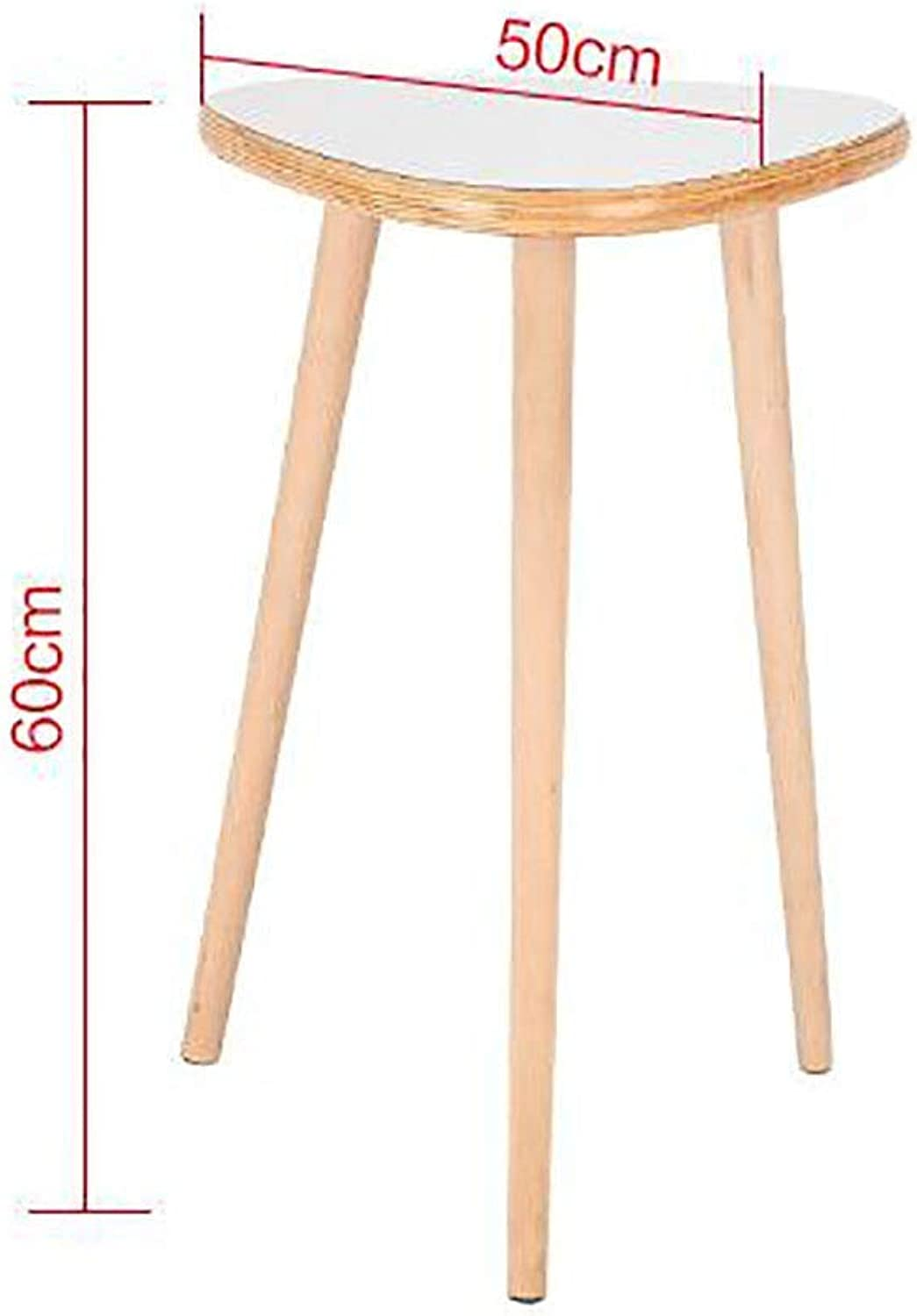 TJTG Solid Wood Foot Tea Table Sofa Side Small Round Table Nordic Mini Round Table Corner Coffee Table Home Office Desk (Size   50cm)