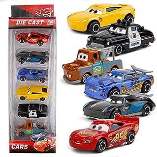 6pcs Disney Pixar Cars 3 Metal Car Toys Lightning McQueen Jackson Curz Daniel Mater Sheriff Car Toy Boy Christmas Gift