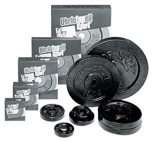 Christopeit Gusseisen Pesi per manubri 30 mm Schwarz, Nero (Guss Schwarz), 20,00 kg