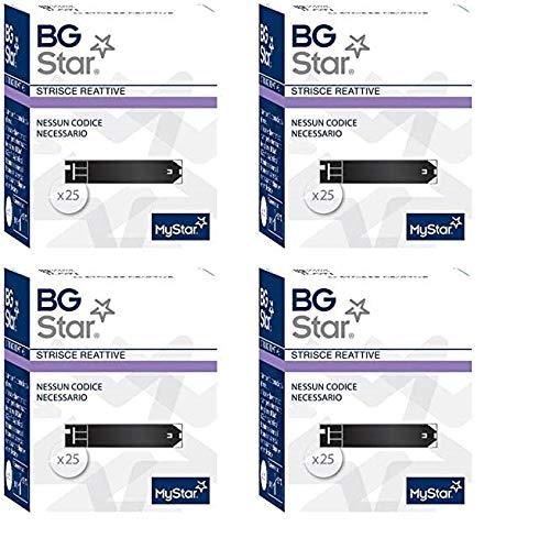 BGSTAR - 100 Strisce Reattive per il Controllo della Glicemia - BG STAR MYSTAR