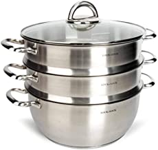 MSWL Steamer Stainless Steel Double Layer/Three Layer Composite Bottom Steamer Can Be Cooked, Suitable For Induction Cooke...