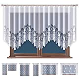 Promag Jacquard Gardinen mit Kräuselband Transparent in Weiß Fenster Vorhang (HxB) 120 x 300 cm - Ohne Bohren - Pflegeleicht | Oeko-TEX Standard 100 Zertifizierung | Hergestellt in EU
