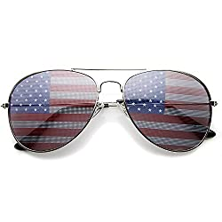 Rally sun proof Flag Aviator Sunglasses