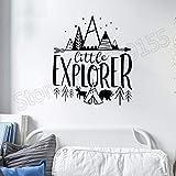 BailongXiao Sin Marco-Pequeño Explorador Etiqueta de la Pared decoración de la habitación de los niños o
