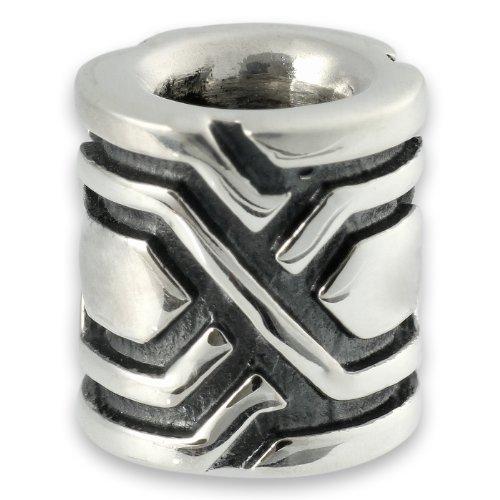 The Hobbit Jewelry Unisex-Bead Zwerg Dwalin 925 Sterling Silber 19010007
