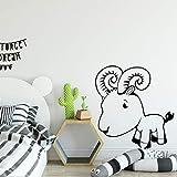 GJQFJBS Niedliche kleine Lamm Wandaufkleber für Kinder Schlafzimmer Dekoration wasserdicht selbstklebend wasserdicht Vinyl Aufkleber Hauptdekoration Schwarz 30x31cm