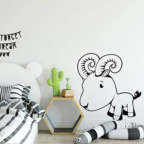 zqyjhkou Lindo pequeño Cordero Etiqueta de la Pared para niños decoración del Dormitorio calcomanías de Vinilo a Prueba de Agua Autoadhesivo Impermeable decoración del hogar Mural m 30 cm x 31 cm