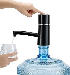 مضخة مياه الية كهربائية قابلة للشحن لتفريغ الماء في الزجاجات - اسود