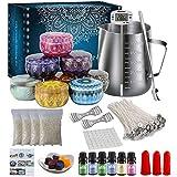 NICEFACE Juego para hacer velas de té, kit de bricolaje para principiantes, set de iniciación para la fabricación de una vela con aroma de vela
