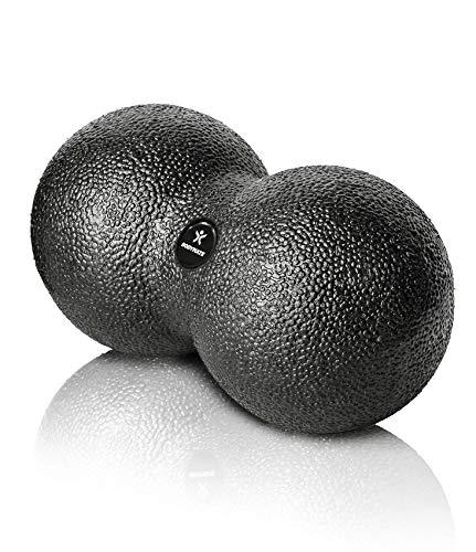 BODYMATE Faszien-DUO-Ball Schwarz, Selbstmassage-Ball für Faszientraining, Durchmesser 8cm Länge 16cm