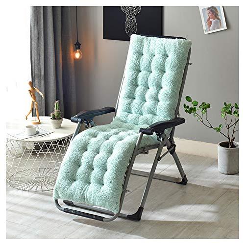 GELing Cojín de Repuesto para Tumbona de Interior y Exterior, reclinable, cojín Grueso,Azul Claro,160X50X12cm
