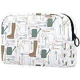 ATOMO Bolsa de maquillaje, bolsa de viaje cosmética grande bolsa de aseo organizador de maquillaje para mujeres, equipo de jardinero