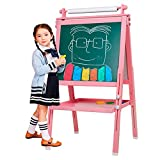 Best Kids Easels - BeebeeRun 3 in 1 Wooden Kids Easel Double-Sided Review
