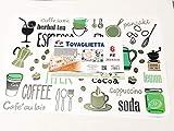Oceano Tovagliette Americana Plastica Lavabili 6 Pezzi 28x43 cm -decorata Cucina
