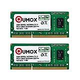 QUMOX 8Go (2x 4 Go) 204 pin DDR3L-1600 SO-DIMM Mémoire (1600Mhz, PC3L-12800S, CL11,...