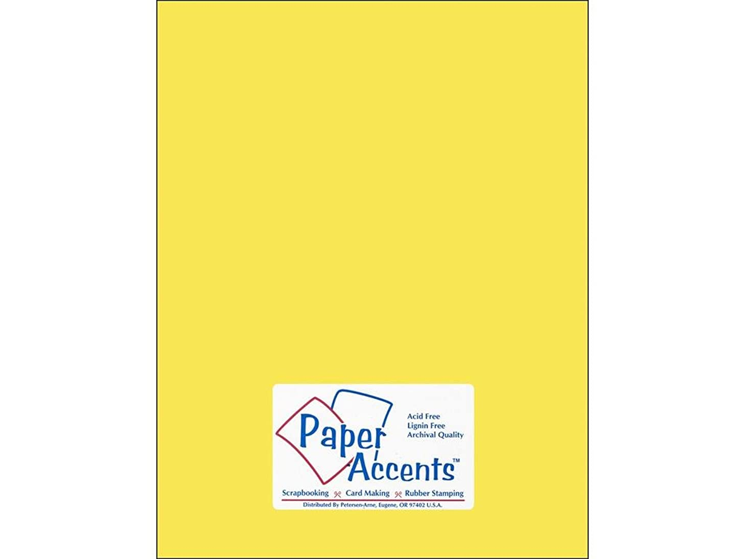 Accent Design Paper Accents Cdstk Smooth 8.5x11 60# Light Yellow