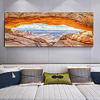 ファッションアートロック海の風景キャンバス絵画リビングルームのポスター壁アート写真とプリント家の装飾フレームなし30x90cm