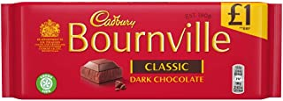 Cadbury Bournville Classic Dark Chocolate 100g Bar (Pack of 6)