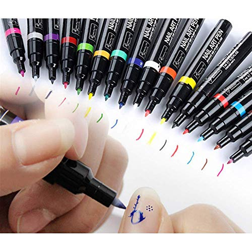 Kangler Nail Art Pens, 8 Colors Nail Art Pen for 3D Nail Art DIY Decoration